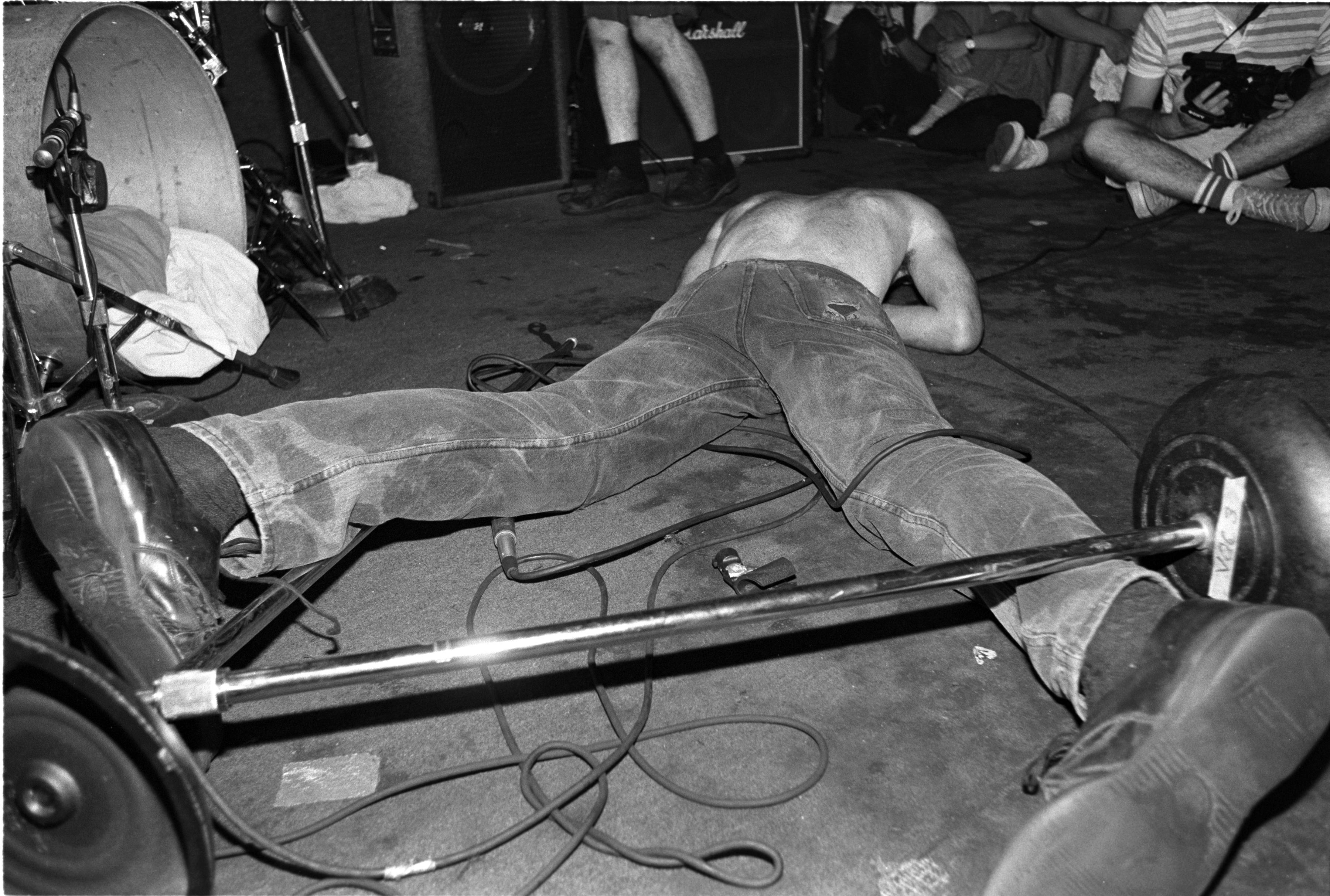 Fugazi 1989 (photo by Jim Saah)